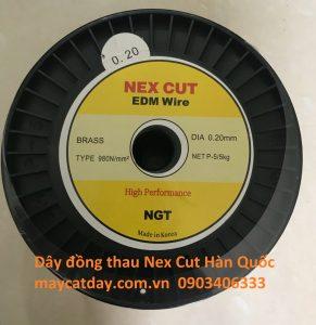 Dây đồng thau nex cut EDM Brass wire cho máy cắt dây đồng